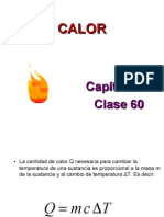 Calor y Electricidad Calor Específico