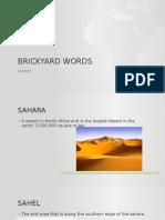 brickyard words