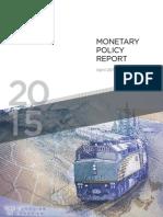 Canada's monitary policy 2015
