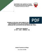 FORMULACIÓN DEL REGLAMENTO DE OPERACIÓN Y MANTENIMIENTO DE LOS SISTEMAS DE RIEGO Y DRENAJE DE LOS DISTRITOS DE RIEGO DEL PERU