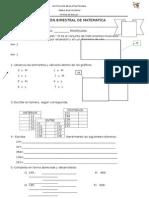 examen de matematica para 2 de primaria