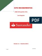 Layout Cobrança 400 - 102014 SANTANDER
