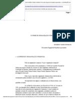o Crime de Organização Criminosa Rogério Tadeu Romano Procurador Regional Da República Aposentado i – a Expressão Organ
