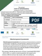 Prezentare Proiect Startup Anatreprenorial