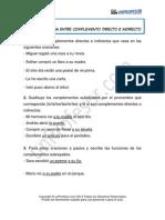 Ejercicio Diferenciar El Complemento Directo Del Complemento Indirecto 119