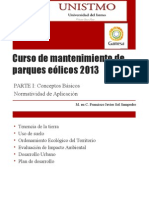 Curso de Mantenimiento de Parques Eólicos 2013 NORMATIVIDAD
