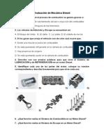 Evaluación de Mecánica DieselEvaluación de Mecánica DieselEvaluación de Mecánica DieselEvaluación de Mecánica Diesel