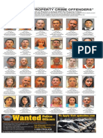 Most wanted property crime offenders April 2015