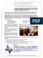 Invitation to Freedom Colonies Symposium & Testimony Service!