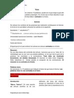 Partes de Un Artículo Científico 2014-2 LCRB