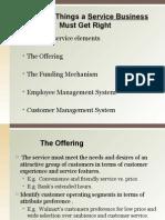 Service business essentials