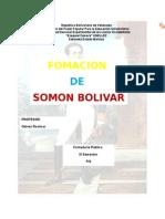 Formación de Simón Bolívar