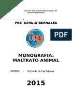 Monografia Maltrato Animal Sergio Bernales