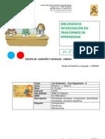 Bibliografia Intervención Trastornos Aprendizaje2º + 2er C PRI