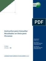 Instructivo Consulta Resultados en Linea Para Personas