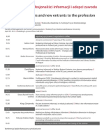 information brokers and entrants to the new profession - Program Seminarium 04-23-2015 - Krakow - Poland