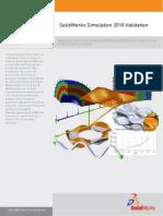 SolidWorks Simulation 2010 Validation