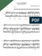 La llamada. Violín y Piano. Armando Bernabeu Lorenzo