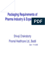 Packaging Requirements of Pharma Industry and Expectation
