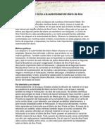 Diez Preguntas en Torno a La Autenticidad Del Diario de Ana Frank