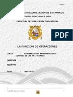 Administracion de Operaciones - funcion de las operaciones