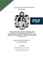 Evaluación del control interno a las cuentas por cobrar de la empresa de transportes y servicios vanina e.i.r.l., para mejorar la eficiencia y gestión, durante el período 2012.pdf