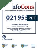 Protectia Consumatorului 0219551 Cluj Model Placuta Afisare Agenti Economici