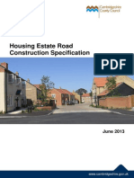 Housing Estate Road Construction Specification Updated May 2014