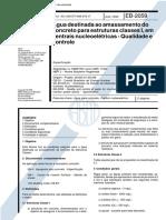NBR 11560 - 1990 - Água Destinada Ao Amassamento Do Concreto Para Estruturas Classe I Em Centrais Nucleoelétricas - Qualidade e Controle
