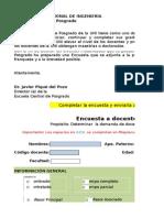 Encuesta Docente UNI 2015-1