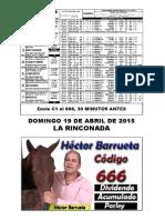 RETROSPECTO DOMINGO DE HECTOR BARRUETA