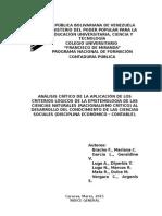 Análisis Crítico de la aplicación de los criterios lógicos de la epistemología