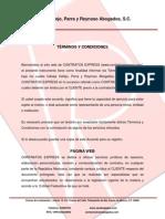 TÉRMINOS Y CONDICIONES CONTRATOS EXPRESS