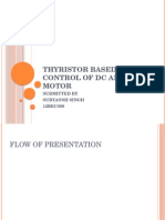 THYRISTOR BASED SPEED CONTROL OF DC AND AC MOTOR