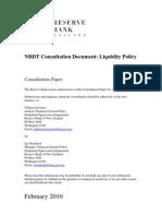 RBNZ NBDT Liquidity Discussion Paper
