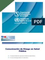 Comunicación de Riesgo en Salud Pública OK