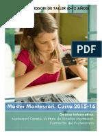 6-12 Años.máster Montessori_dossier INFORMATIVO. Curso 2015-16