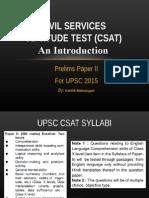 UPSC CSAT Intro
