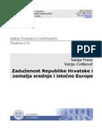 Zaduženost Republike Hrvatske i Zemalja Istočne Europe