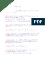 Gear Terminologies
