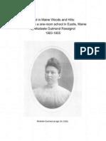 Modeste Guimond - Eustis Maine Diary, 1903-1905
