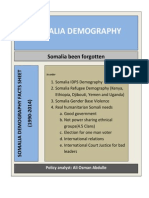 Somalia Demography Facts Sheet