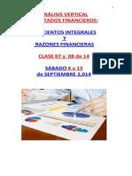 Análisis Vertical en % y Razones Financieras- (1)