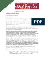 Carta Abierta Ollantaarequipa 12 de Abril de 2015
