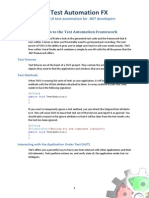 Test Automation FX - User Guide