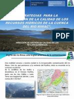 1. Estrategias Para La Protección de La Calidad de Los Recursos Hídricos de La Cuenca Del Río Rímac