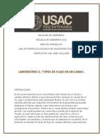 Reporte 3 Hidráulica Diciembre 2014