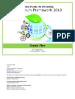Curriculum standard science 5