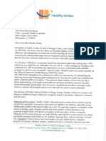 Healthy Smiles AB 1046 Letter of Support