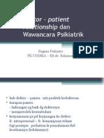 Doctor – Patient Relationship Dan Wawancara Psikiatrik